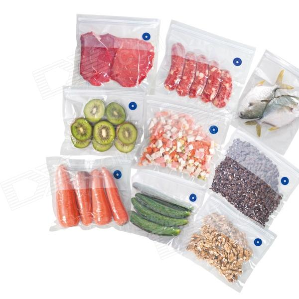 Food is placed in one of these bags, and then a vacuum sealer machine sucks the air out and seals it, leaving just your product inside. Vacuum sealing keeps ingredients from drying out and allows you to marinate in less time.
