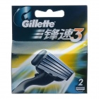 GILLETTE Replacement 3-Blade Razor Cartridges (2 PCS)