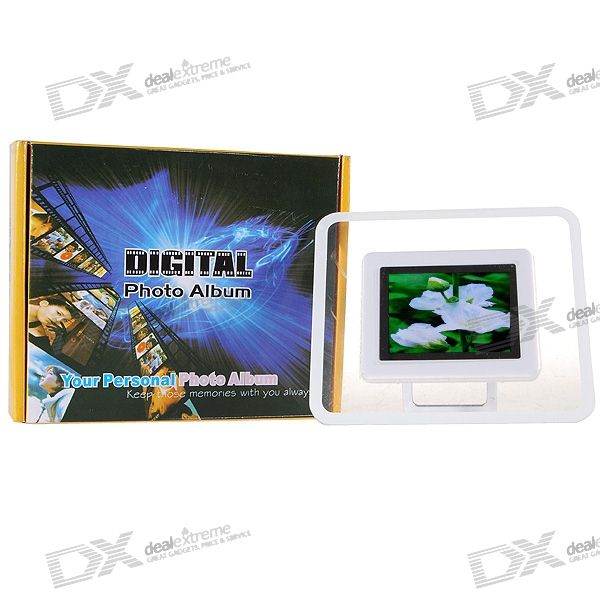 "2.4"" LCD Desktop Digital Photo Frame and Calendar (27-Picture Memory Storage)"