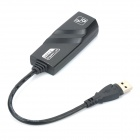 USB 3.0 Gigabit LAN Ethernet Adapter - Black