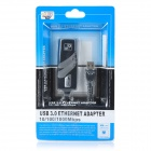 Adaptador 3.0 Gigabit LAN Ethernet USB - Negro