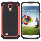 Cool Basketball Skin Pattern Silicone Protective Back Case for Samsung Galaxy S4 i9500 - Black + Red