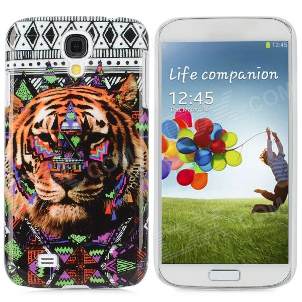 Tiger Pattern Protective Plastic Back Case for Samsung i9500 - Multicolored protective cute spots pattern back case for samsung galaxy s4 i9500 multicolored