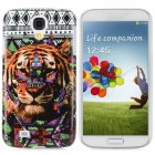 Tiger Pattern Protective Plastic Back Case for Samsung i9500 - Multicolored