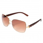 K108 59 Cool Fashionable Polaroid Glare-guard Sunglasses w/ UV400 UV Protection - Tawny