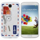Letter Pattern Protective Plastic Back Case for Samsung 9500 - White