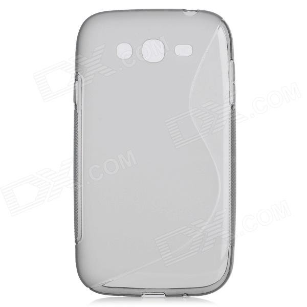 Protective TPU Back Cover Case for Samsung Grand i9080 / i9082 - Transparent Grey tpu protective cover for apple watch 38mm transparent