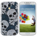 Skull Pattern Protective Plastic Back Case for Samsung 9500 - White + Bright Blue
