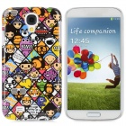 Cartoon Pattern Protective Plastic Back Case for Samsung 9500 - Multicolored