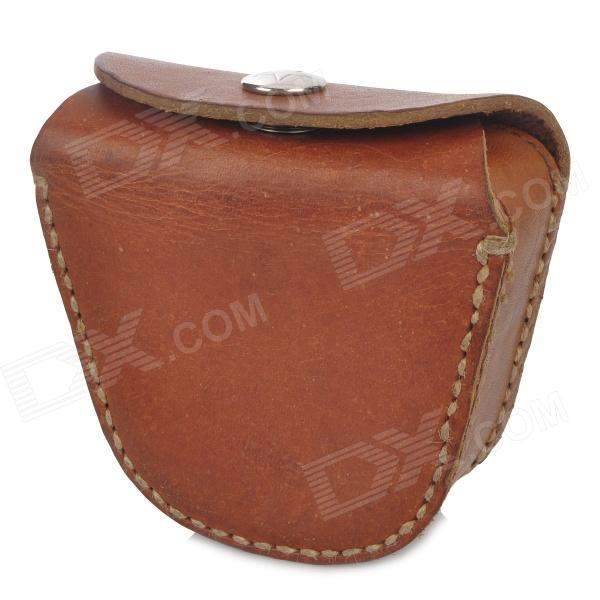 Simple Retro Split Leather Coin Purse w/ Belt Buckle - Brown 2016 new arrival brand short crocodile men s wallet genuine leather quality guarantee purse for male coin purse free shipping