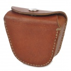 Simple Retro Split Leather Coin Purse w/ Belt Buckle - Brown