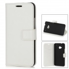 Protective PU Leather Case for HTC One M7 - White