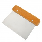 Wooden Handle Stainless Steel Scraper Decoration Tool - Silver