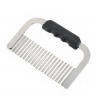Wave Style Plastic Handle Stainless Steel Scraper Decoration Tool - Silver + Black