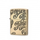 KANTAI Skull Style Copper Zinc Alloy Fuel Lighter - Bronze