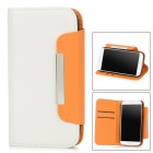 Simple Protective PU Leather Flip-Open Case for Samsung Galaxy S4 i9500 - White