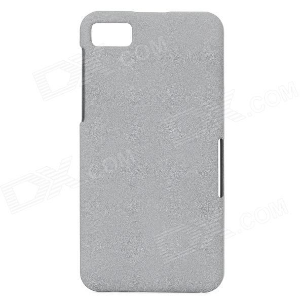 TEMEI Protective Quicksand PC Back Case for Blackberry BB Z10 - Gray ultra thin protective matte pc back case for blackberry z10 white