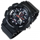 Fashion Anti-shock Sport Plastic Quartz Digital Wrist Watch - Black (1 x 377)