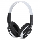 YS-CC16 Wireless MP3 Player Stereo Headphone w/ FM / TF Slot - Black + White