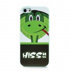 Lofter Cute Cartoon Snake Pattern PC Protective Back Case for Iphone 5 - Green + White + Red