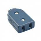 JINHONGDA AC Power 2-Flat-Pin Plug Socket - Steel Blue (250V)