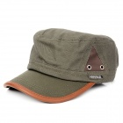 Fashion Leisure Flat Top Hat - Army Green