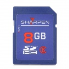 SHARPEN SDBC6-4G High Speed Flash Memory SDHC Card - Blue (Class 6 / 8GB)