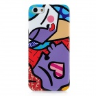 Protective Plastic Case for Iphone 5 - Purple + Red + White + Blue