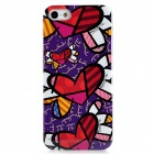 Fashionable Scrawl Pattern Protective Plastic Hard Back Case for Iphone 5 - Multicolored