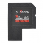 SHARPEN USDHV-16G USB 2.0 Flash Drive / SD Memory Card - Black + Red (Class 10 / 16GB)