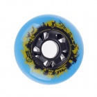 72mm 85A Outdoor Roller Skates Brake Pulley Wheel - Blue + Black + Yellow