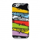 Individuality Scrawl Pattern Protective Plastic Hard Back Case for Iphone 5 - Multicolored