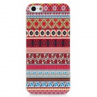 Fashionable Tribal Style Pattern Protective Plastic Hard Back Case for Iphone 5 - Multicolored