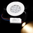 Resch Dayton Q1-CQ-12-12W-3000K 12W 1140~1260lm 3000K LED Warm White Ceiling Light - White + Black