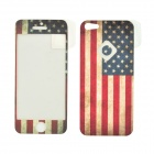 Itop FB004 Flag of the United States Pattern Protective Front + Back Film Protector for Iphone 5