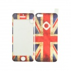 Itop CGQ-MMYG02 the Union Jack Pattern Protective Front + Back Film Protector for Iphone 5