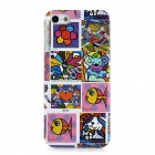 Cute Scrawl Pattern Protective Plastic Hard Back Case for Iphone 5 - Multicolored