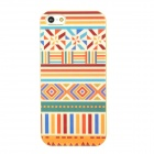Lofter National Style Protective TPU Back Case for Iphone 5 - Multicolored