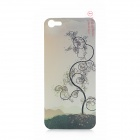 3D Timbo Pattern Protective Plastic Back Skin Protector for iPhone 5 - Translucent Cyan