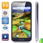 N7100 Quad Core Android 4.2.1 WCDMA Bar Phone w/ 5.3 Capacitive Screen, Wi-Fi and GPS - Dark Blue