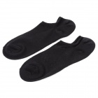 Men's Comfortable 100% Cotton Socks - Black