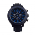 Super speed V6 V0100-BB Racer Quartz Movement Wrist Watch for Man - Black + Blue