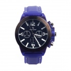 Super Speed V0087-BW Fashionable Men's Analog Quartz Wrist Watch - Black + White + Blue (1 x LR626)