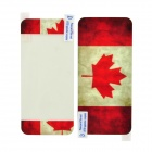 Canada Flag Pattern Protective Screen Protector + Back Skin Protector Set for Iphone 5 - Red + White