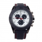 Super Speed V0087-BW Fashionable Analog Quartz Men's Wrist Watch - Black + White (1 x LR626)