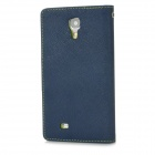 Protective PU + TPU Case for Samsung Galaxy S4 i9500 - Dark Blue+Green