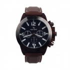 Super Speed V0087-GW Fashionable Men's Analog Quartz Wrist Watch - Brown + Black + White (1 x LR626)