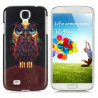 Owl Pattern Protective Plastic Hard Back Case for Samsung S4 i9500 - Multicolored