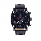Super Speed V0015-BW Fashionable Men's Analog Quartz Wrist Watch - Black + White (1 x LR626)