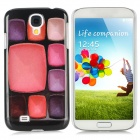 9 Make-up Cases Pattern Protective Plastic Back Case for Samsung i9500 - Multicolored